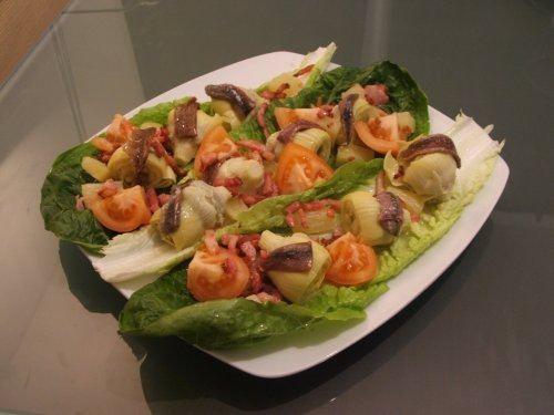 ensalada de alcachofa