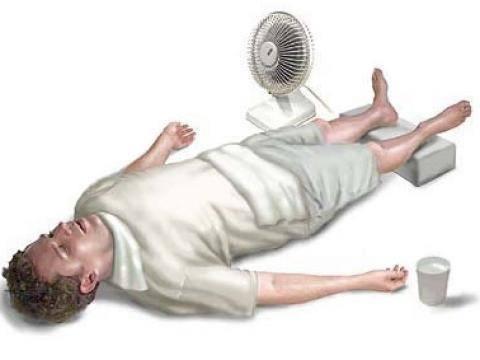 Insolación o golpe de calor síntomas