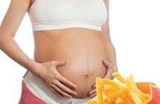 Comida basura durante el embarazo asociado a trastornos mentales infantiles