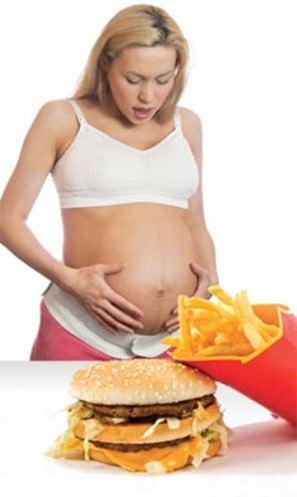 Comida basura durante el embarazo