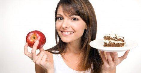 woman_health_happy_diet_weight_choice_calorie_calories_nutrition_apple_fruit_cake_healthcare_eat_body_shape_figure