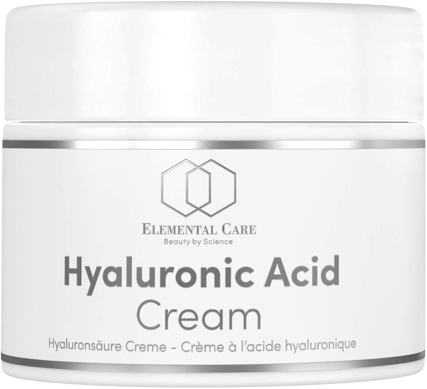 Crema facial con ácido hialurónico vegano de Elemental Care