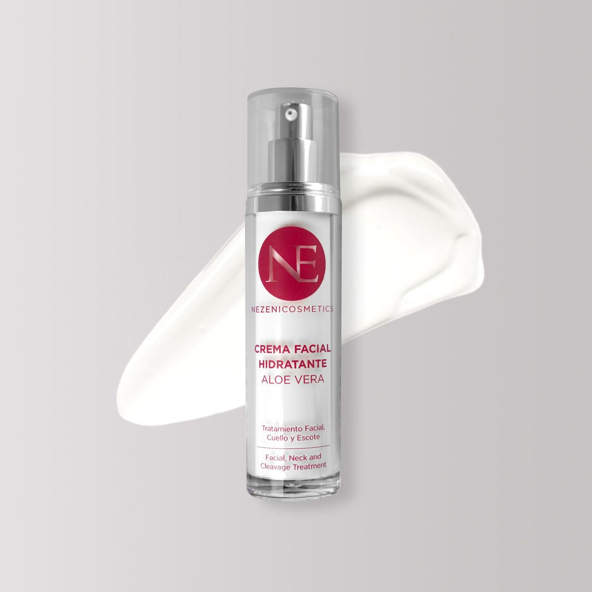 Crema facial hidratante de áloe vera de Nezeni Cosmetics