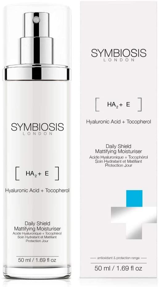 Crema matificante con ácido hialurónico y tocoferol de Symbiosis London